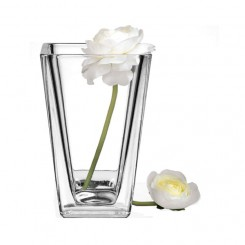 Clear Taper Down Vase