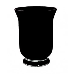 Hurricane Vase Black