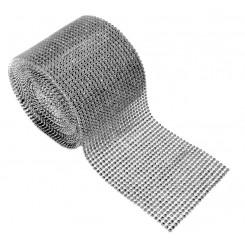 Diamond Decorative Ribbon Silver