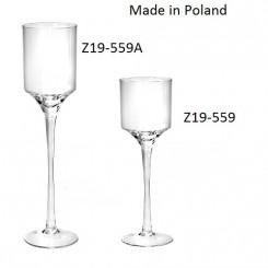 Glass Stemmed Candleholder