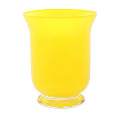 Hurricane Vase Yellow