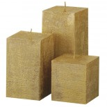 Gold Square Pillar Candles