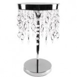 Chrome and Crystal Pedestal