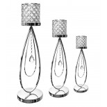 Chrome Pedestal with Hanging Diamond