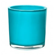 Turquoise Cylinder Glass